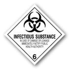 Infectious Substances Class6 Label